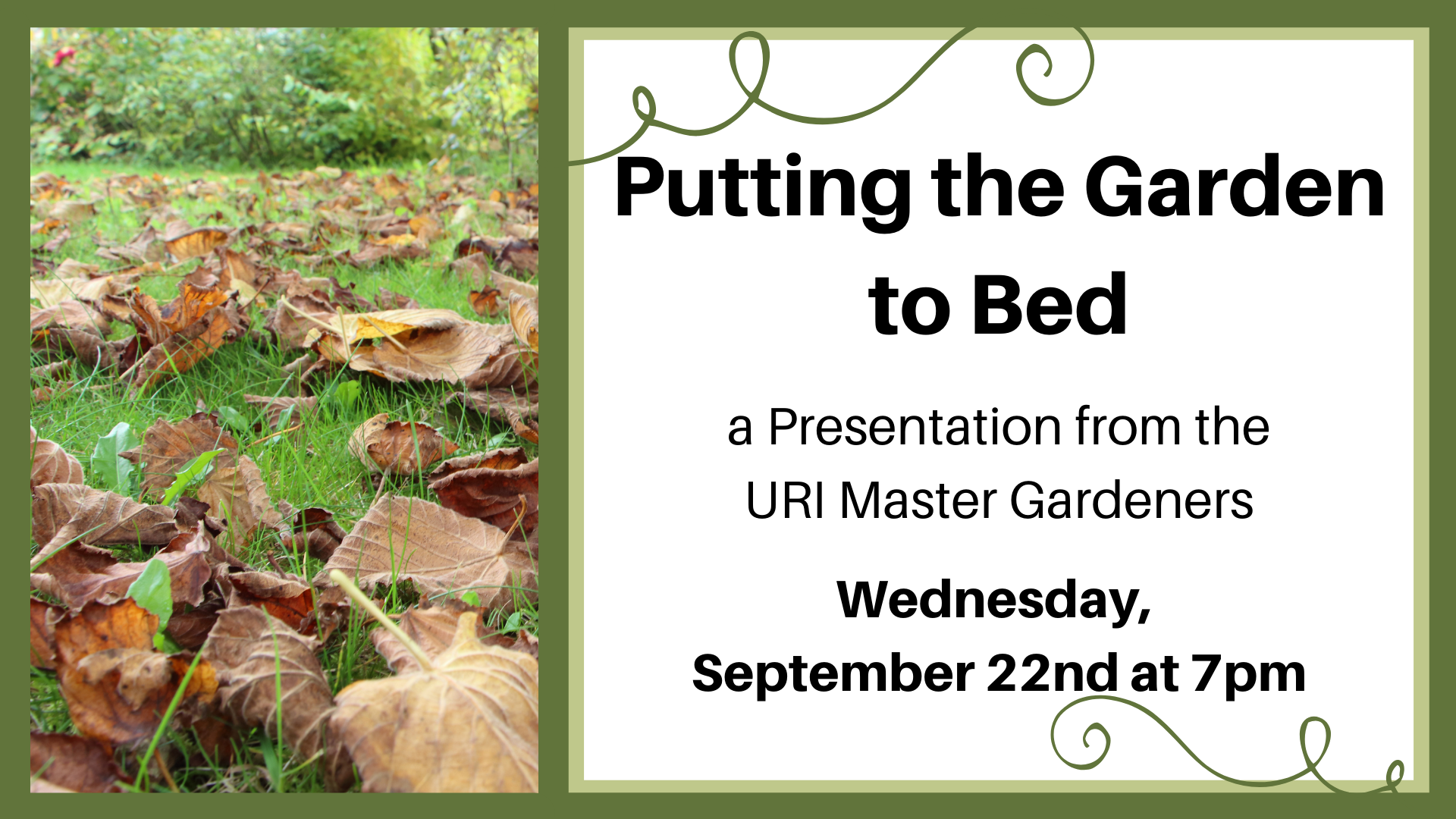 Putting the Garden to Bed